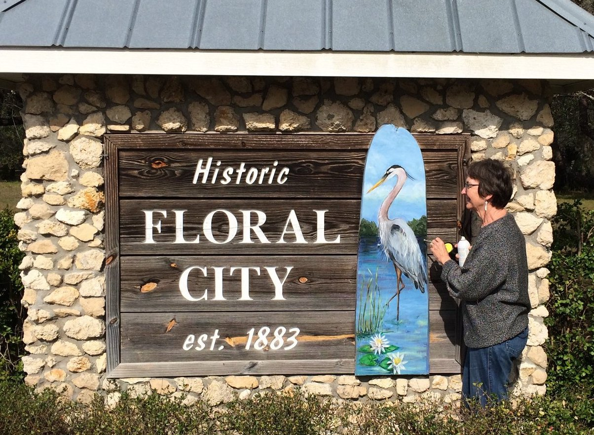 Floral City Gateway sign on SR48W